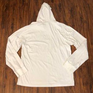 Lrg Shirts - LRG Men's White Light-weight Hooded T-Shirt